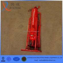 gas well used mud and drill fluid separator gas buster