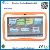 kids learning android tablet pc,7inch Allwinner A13 wifi kid tablet pc, China manufactuer
