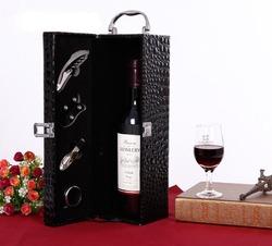 PU Leather Wine Box,Wine Case,Leather Wine Carrier wholesale