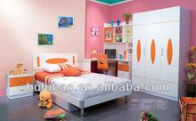 Uso doméstico moderno na moda crianças cama de solteiro guarda-roupa #3301