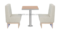 Italy Fast Food Restaurant Furniture Booth Seating With wood legs(FOH-CBCK06)