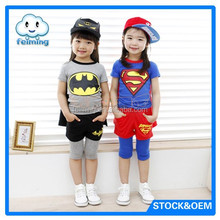 super man design kids Halloween clothes set