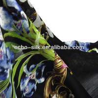 WOOL SILK BLEND TWILL FABRIC
