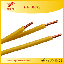 1.5MM2, 2.5MM2,4MM2,6MM2 300/300V low price BV electric cable 6mm2