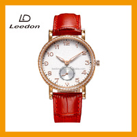 Minenal glass quartz movt charm water resistant high quality ladies fancy wrist watches