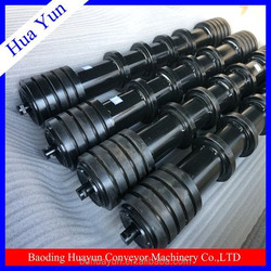 rubber disc comb conveyor self cleaning roller