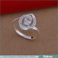 China Big Supplier Tin Alloy 2015 Fashion Crystal Ring Wholesale