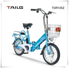 bike electric tailg mini lithium battery bicycle made in china road bike with basket single gear TDR145Z