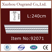 waterproof pu baseboard mirror frame moulding for home decor