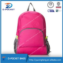 new design lightweight easy carry foldable backpack