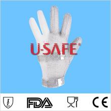 U SAFE Metal Mesh Safety Three Finger Glove/Full Metal Structure Glove/Hook Type