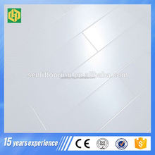 water resistant mdf white laminated floor in china