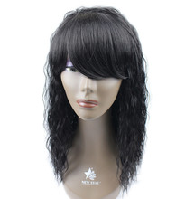 accept paypal wholesale price long curly afro wigs ,Afro kinky curly micro synthetic braided wigs for black women