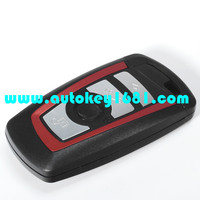 MS car keys shell for bmw 3 5series smart card replacement case with uncut keys