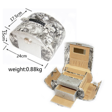 Elegant jewelry necklace/earring/ring packaging tool box, aluminum Jewelry display case