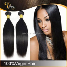 Popular fashion 6A Brazilian Natural Black clip in hair extensions free sample