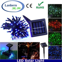2016 hot rechargeable multicolor outdoor IP44 Wedding Party Festival 6.9m 50leds Solar string Decorate Clear Christmas Ornaments