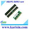 Best price laptop/desktop memory ddr3 ram 4gb 1333mhz 1600mhz in good condition