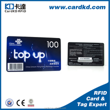 high quality cheap paper magnetic stripe card, top up card