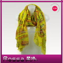 2015 new scarf RO2127 custom fashion viscose floral printed silk scarf