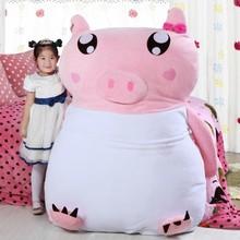 Wholesale soft flannel cartoon bed pink pig sleeping bag kids furniture bed