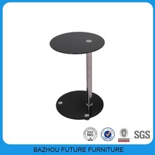 Canton Fair hot sale economic modern and roumd glass side table