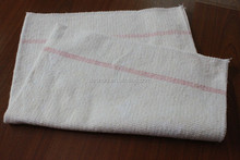 100% white recycle cotton rag to cleaning floor in roll and gray cleaning cloth