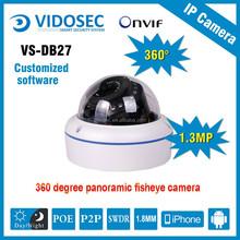 Vidosec 1.3megapixel fish eye camera security cctv surveillance software