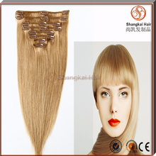 Natural Human Hair 8-30 Inch 8 Pieces Full Set Clip In Hair Extensions