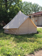 Factory supply 4M polyester-cotton bell tent canvas bell tent UK bell tent