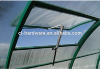 Automatic greenhouse roof vent opener in black window opener
