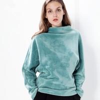 Custom Fashion Cheap Velvet / Velour Wholesale Crewneck Sweatshirt