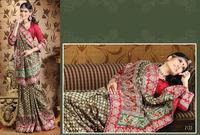 Beautiful designer Red Banarasi Brocade Saree