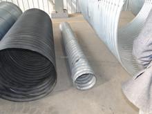 Metal reforzado de polietileno ( PE ) enrollado en espiral tubo corrugado