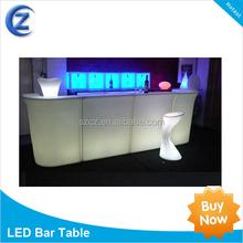 2015 de plástico LED portátil, Plástico Portabl mesa de un Bar