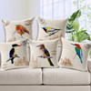 Northern European Countryside Style Beautiful Birds Pattern High Quality 100% Cotton Square Cushion Covers