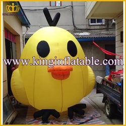 Lovely Inflatable Chick Cartoon, Customized Inflatable Chicken Model For Advertising
