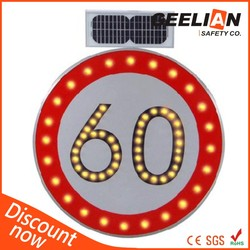 solar led traffic sign / high Reflective traffic sign