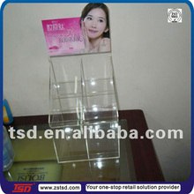 TSD-A208 Custom store wholesale countertop clear acrylic cosmetic case/cosmetic exhibition stand/plexiglass makeup organizer