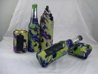 Insulated Fancy Edge 330ml 12OZ Neoprene Camo Magnetic Beverage Holder
