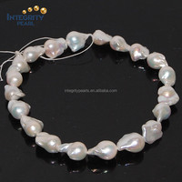 14-15mm nucleated shape huge large size baroque freshwater pearls