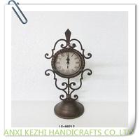 decorative metal gift desk clock