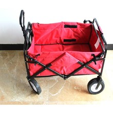 Cheap foldable hand trolley iron folding baby bed