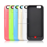 colorful power bank case for Iphone 6 plus external battery charger