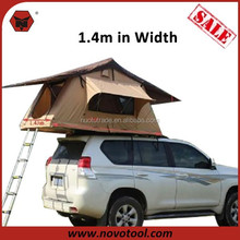 Manufacturers 1-2 Person Type Single Layer Canvas Aluminum Pole Foldable Auto Camping Car Roof Top Tent With Low Price