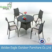 Garden set, PE rattan& aluminum furniture, rattan / wicker furniture