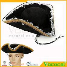 la decoración de halloween de encaje piratas apoyos sombrero de fiesta para las mujeres