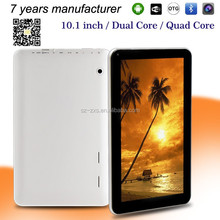 ZXS-10-W wholesale 1024*600 pixels quad core dual camera android tablets 10 inch