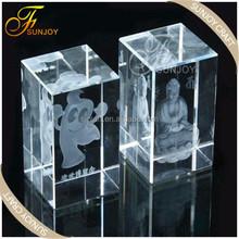 high quality Beautiful 3D Laser Festival Souvenir Gift Crystal Cube