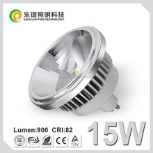 Super brightness ce&rohs approved 15watt 2700k dimmable ar111 gu10 led with 3years warranty